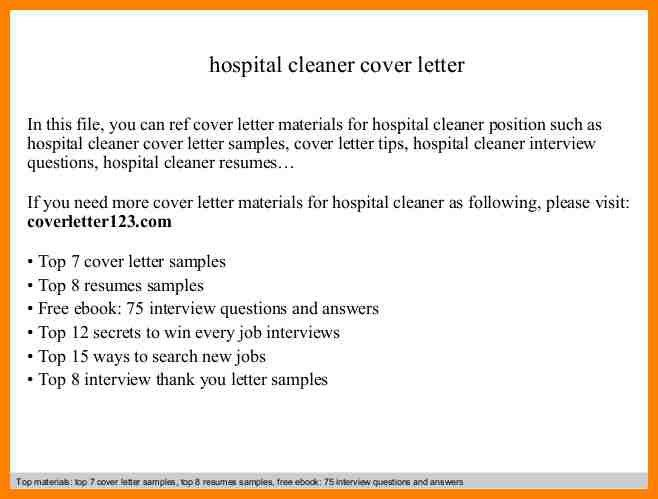 Hospital Housekeeping Resume Cover Letter. child caregiver cover ...