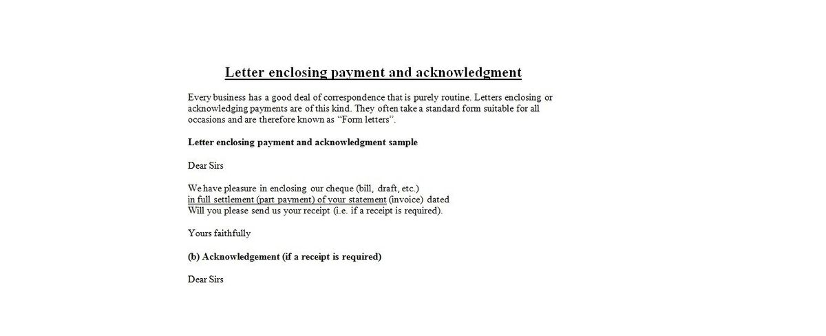 Business Letter For Payment | The Letter Sample