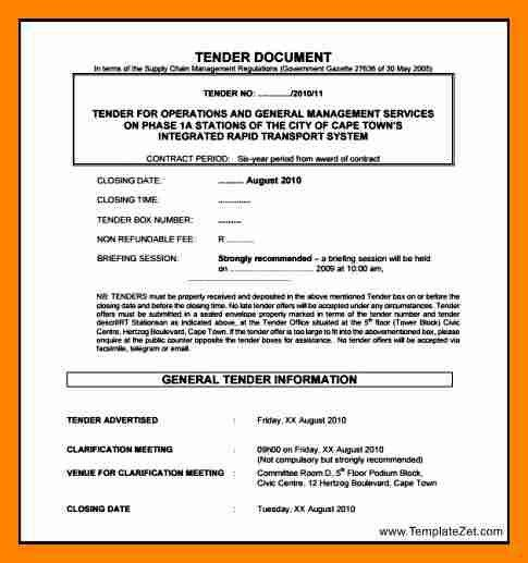 5+ tender notice template | resume sections