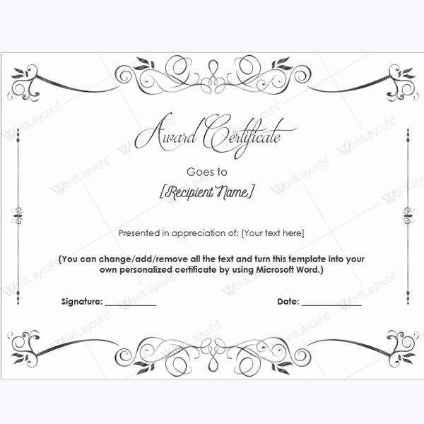 Award Certificate Templates - Free Printable Documents