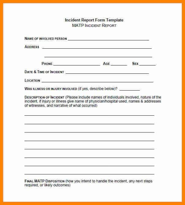 5+ incident report template word | exclusive resumes
