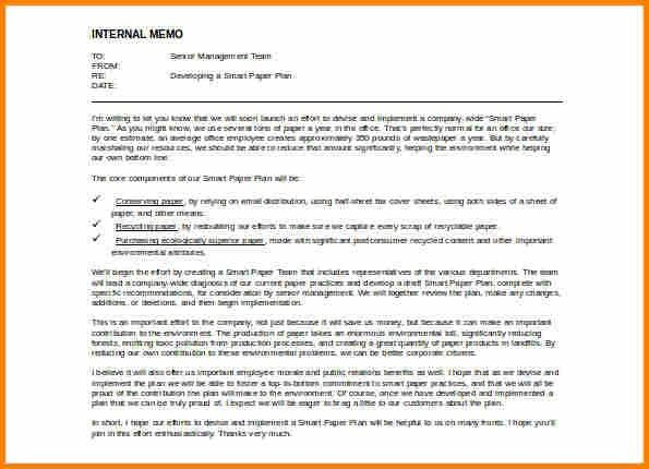 Internal Memo Format Letter [Template.billybullock.us ]