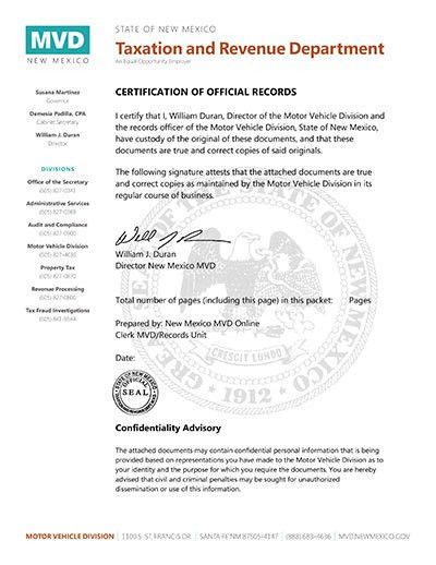New Mexico's Online Driver History Record System