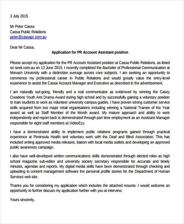 8+ Executive Assistant Cover Letter Templates - Free Sample ...
