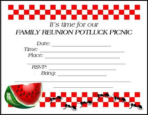 Family Reunion Invitations: Tips, Samples, Templates, Printables ...