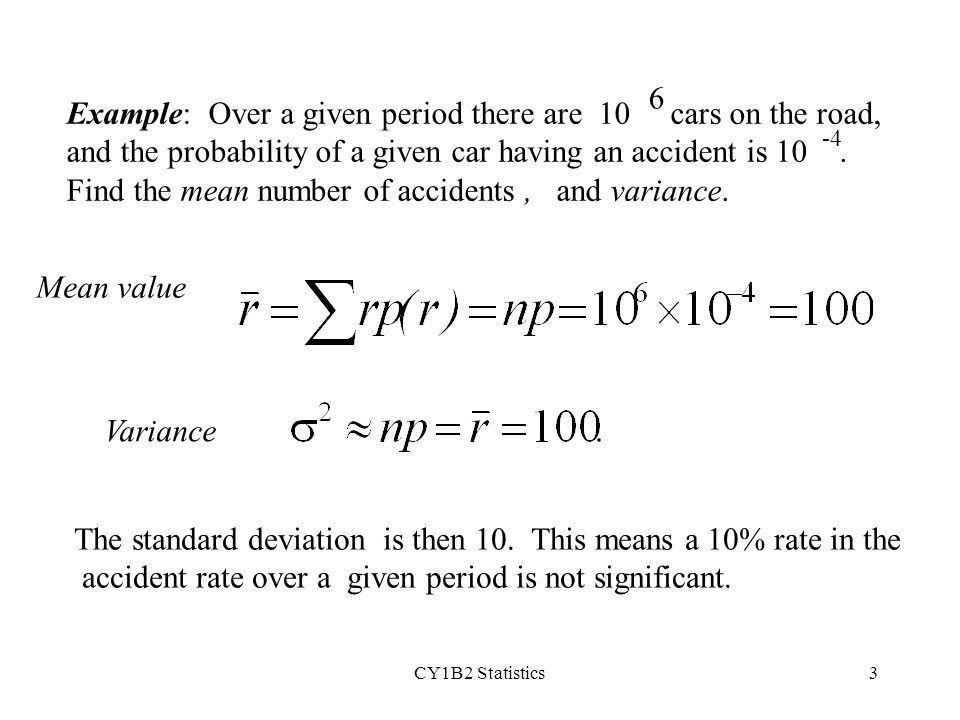 CY1B2 Statistics1 (ii) Poisson distribution The Poisson ...