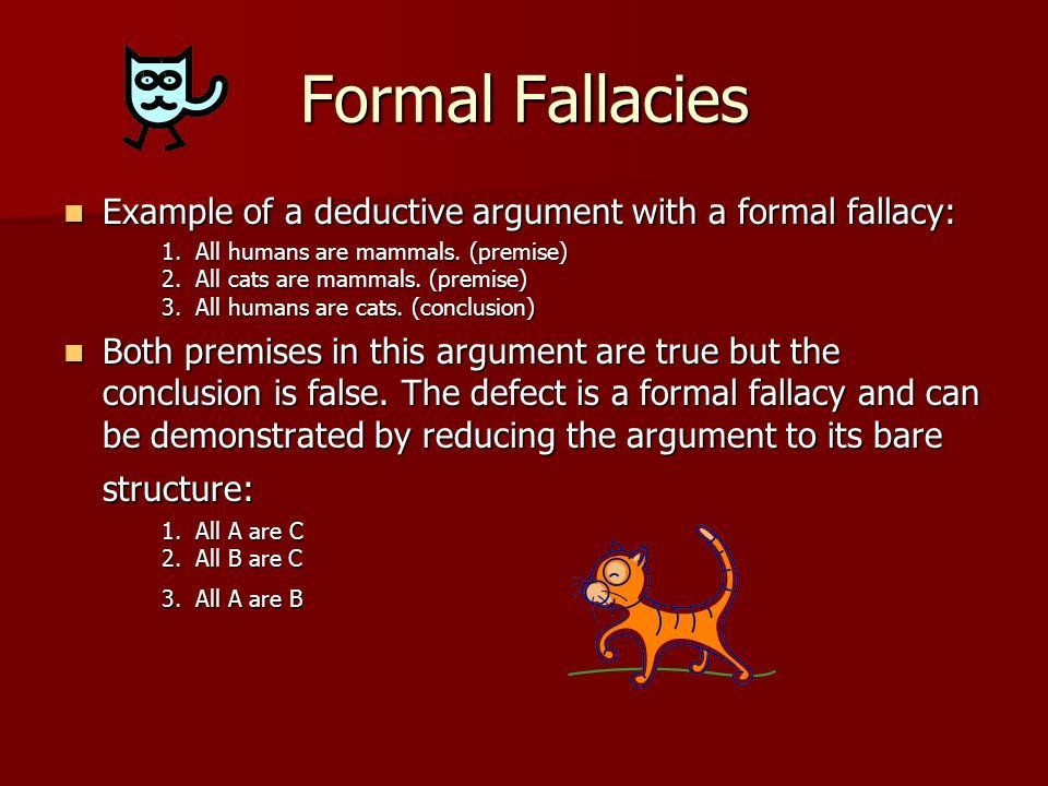 Fallacies Flaws in the Structure of an Argument. What are ...