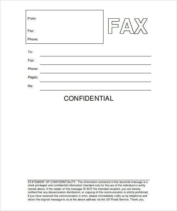 Fax Cover Sheet For Resume | haadyaooverbayresort.com