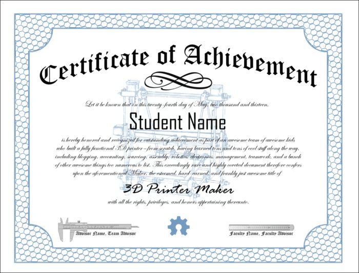 Certificate Of Achievement Template : 9 Cute Certificate Of ...