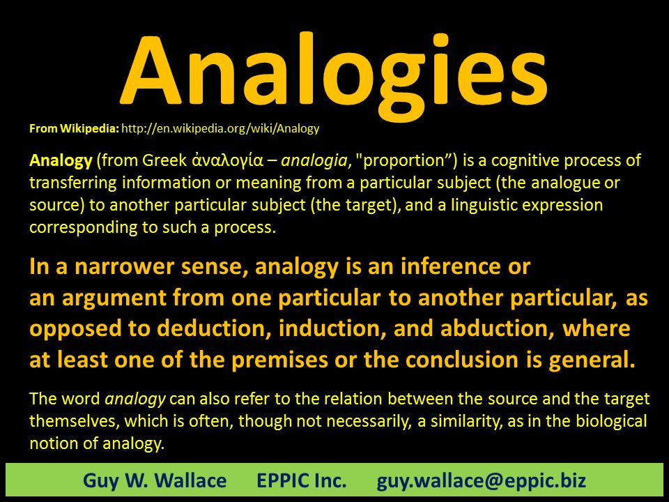 Use Analogies To Connect To Prior Knowledge | EPPIC - Pursuing ...