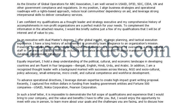 Executive Director Cover Letter Director Cover Letter Sample ...