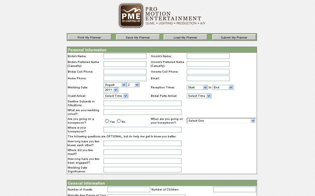 Online Planning System