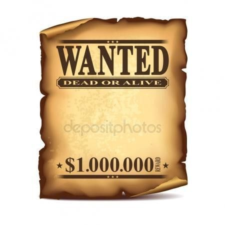 Wanted poster template Stock Vectors, Royalty Free Wanted poster ...