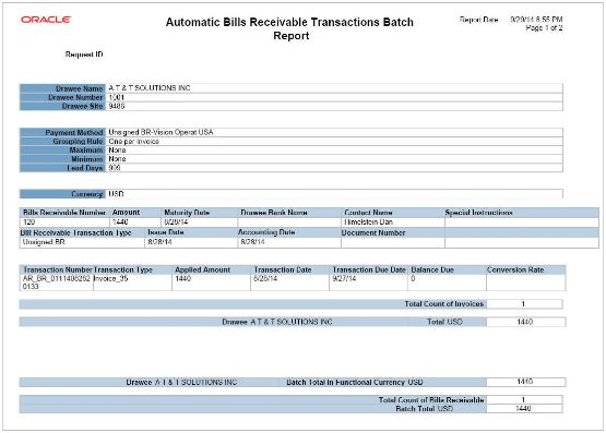 Manage Bills Receivable (Chapter 6) R13 (update 17C)
