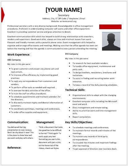 Secretary Resume. Best Legal Secretary Cover Letter Examples ...