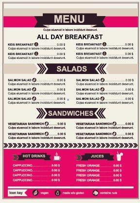 Restaurant menu price List template vector 03 - Vector Cover free ...
