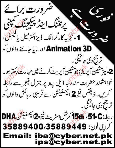 Graphic Designer, 3D animation and MAYA Expert Required 2017 Jobs ...