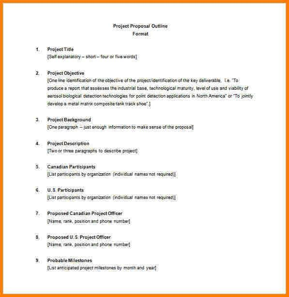 8+ example of outline project proposal | Proposal Template 2017