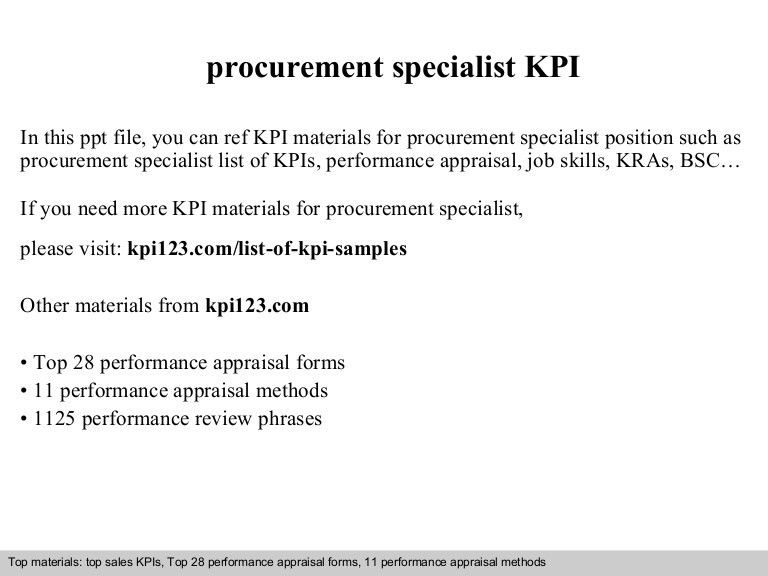 Procurement specialist kpi