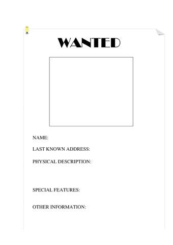 Teaching Wanted Poster Template - chatorioles