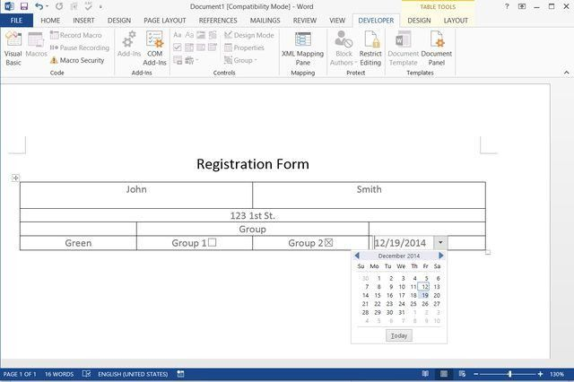 How to Make a Fillable Form With Microsoft Word | Techwalla.com