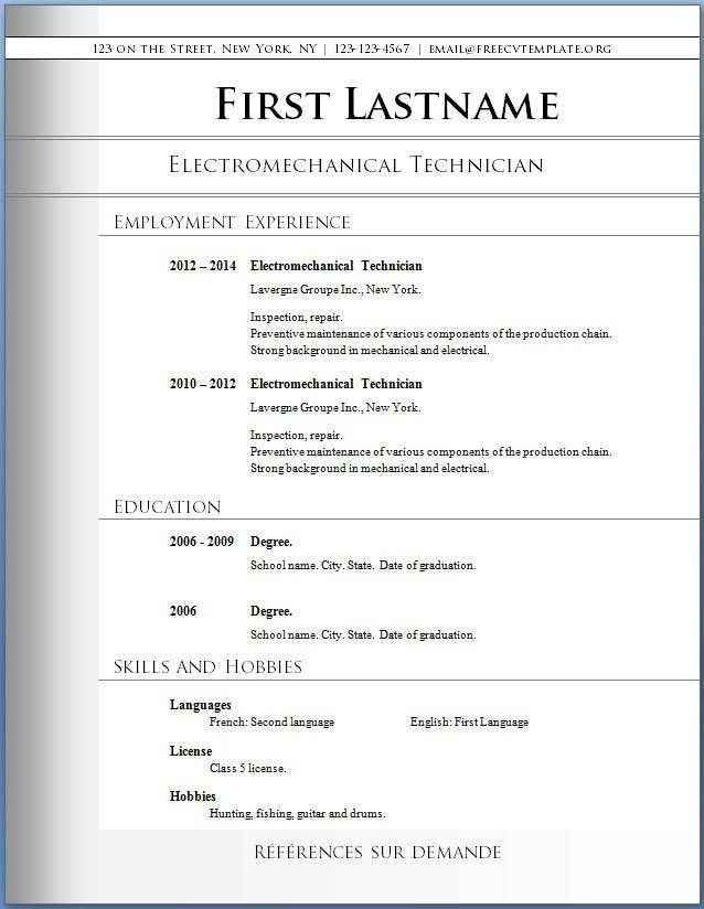 Free Resume Templates Microsoft. Best 25+ Best Resume Template ...