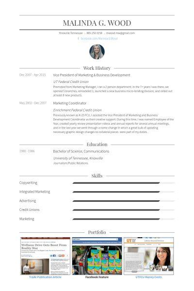 Vice President Of Marketing Resume samples - VisualCV resume ...