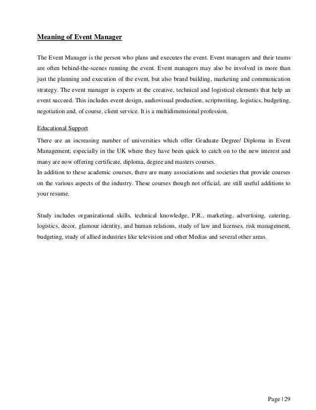 Sample event management planning essay essay agents blog | EDU-ESSAY