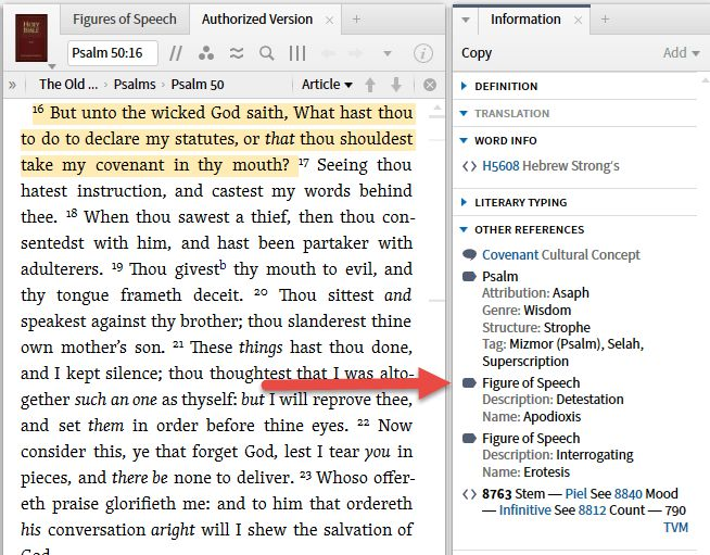 TIP of the day: Figures of Speech - Logos Bible Software Forums