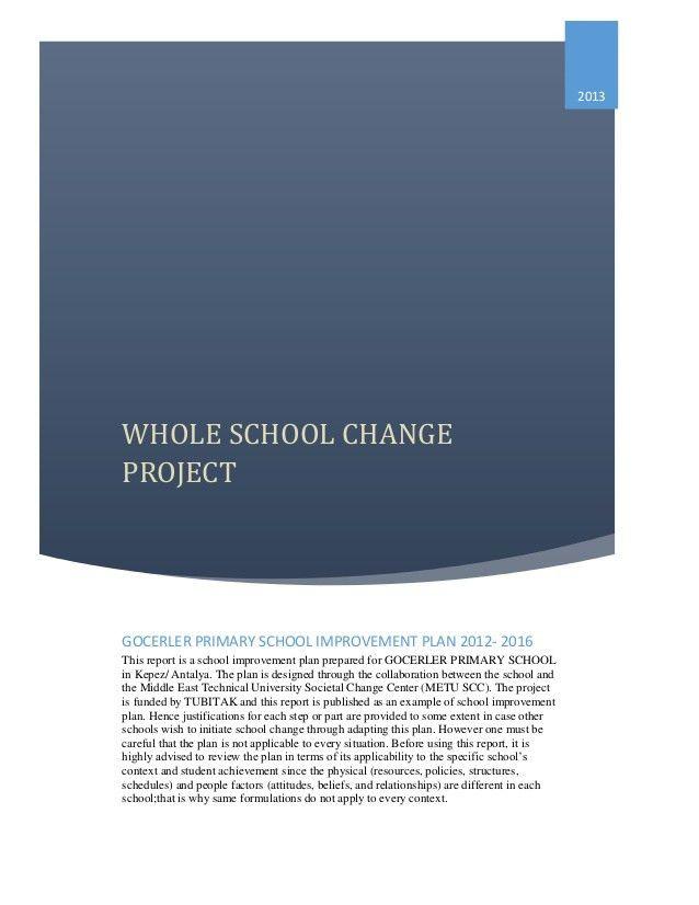Sample School Improvement Plan