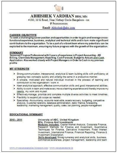 The Perfect Resume Format. Examples Of The Perfect Resume A ...