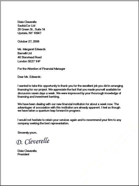Business Cover Letter Example Formal Letter Template 2016 ...