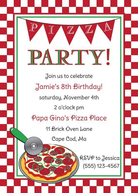 Pizza Party Invitation – gangcraft.net