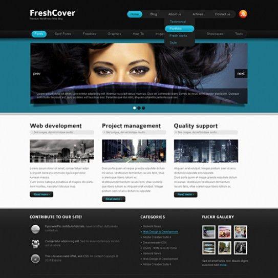 FreshCover - WordPress Template - WP Personal/Creative - WordPress ...