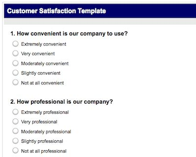 Top 5 Resources To Get Free Satisfaction Survey Templates - Word ...