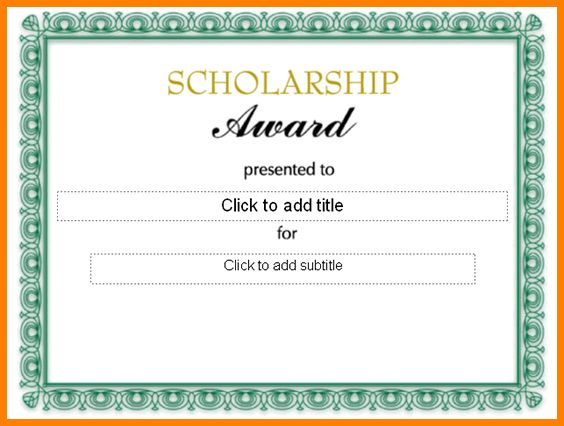Award certificate samples award certificate template 29 download 4 scholarship certificate samples sample of invoice yadclub Choice Image