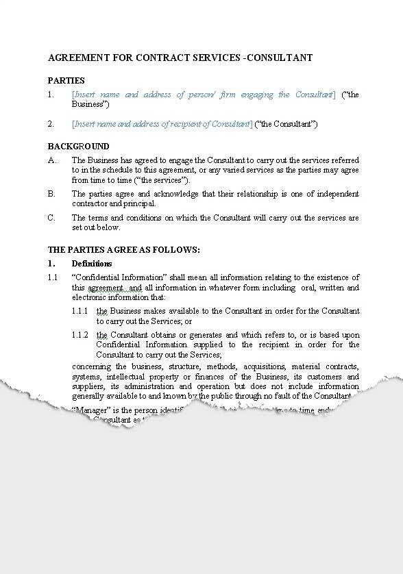 Business – Service Agreements | New Zealand Legal Documents ...