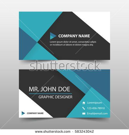 Creative Clean Vector Business Card Template Stock Vector ...