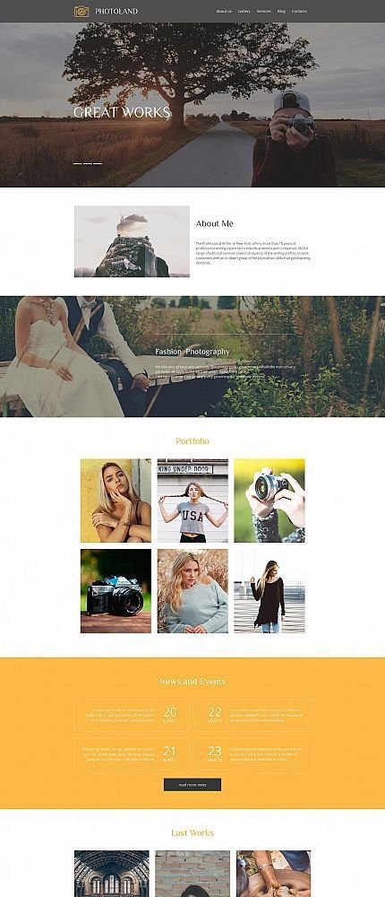 52 best Photo Gallery Templates images on Pinterest | Photo ...