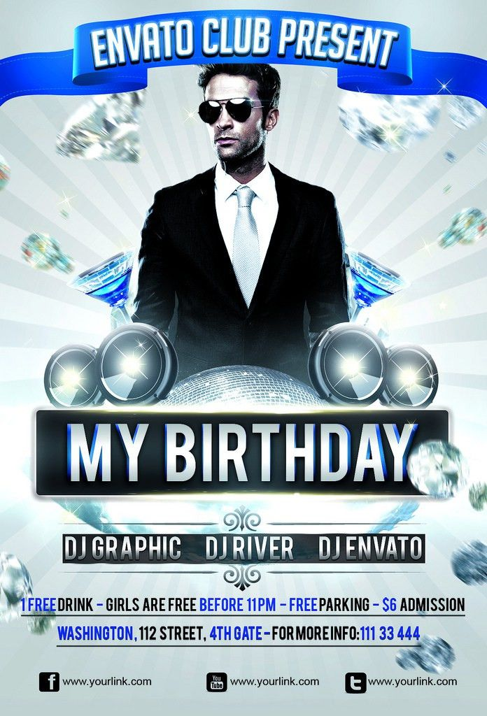 My Birthday Party Flyer Template | Download this Template:ht… | Flickr