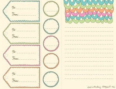 """A Print a Day """"Scalloped"""" Printables - Paper Crave"""