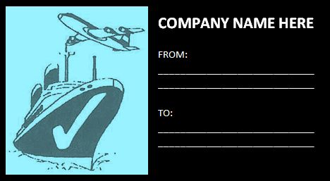 Free Printable Shipping Label Template images