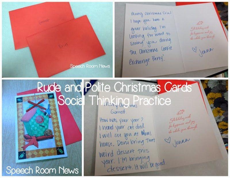Social Thinking Christmas Cards - Speech Room News