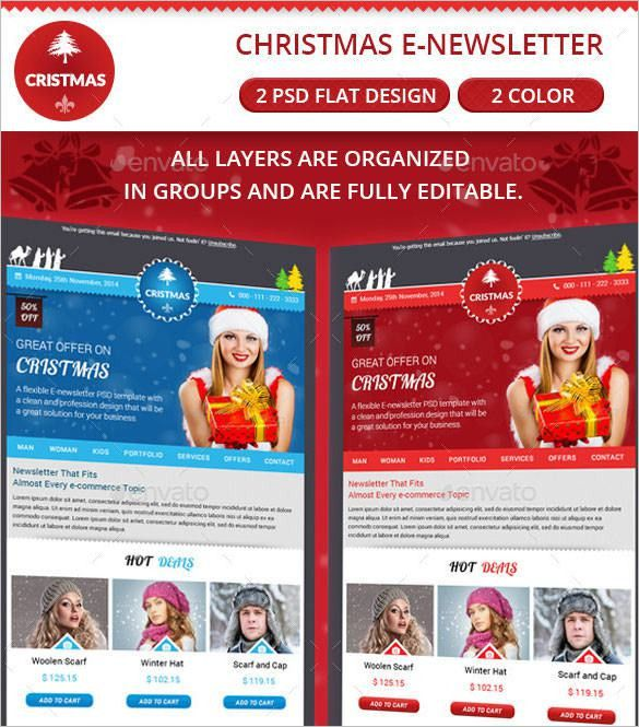 17+ Christmas Newsletter Templates – Free PSD, EPS, Ai, Word ...