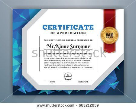 Geometry Diploma Certificate Template Design International Stock ...