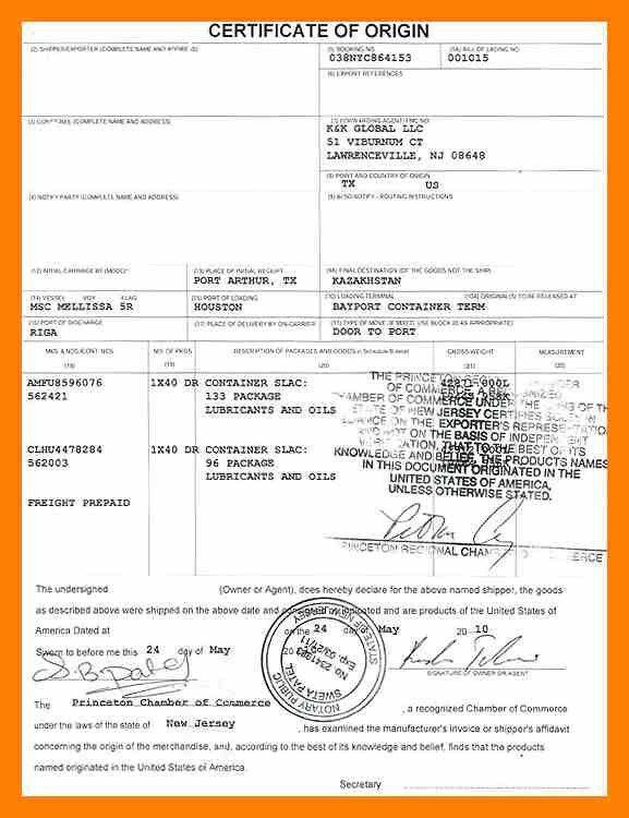 11+ certificate of origin | students resume