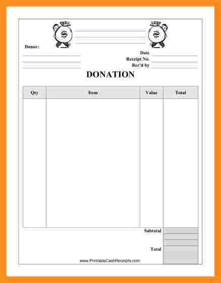 donations list template