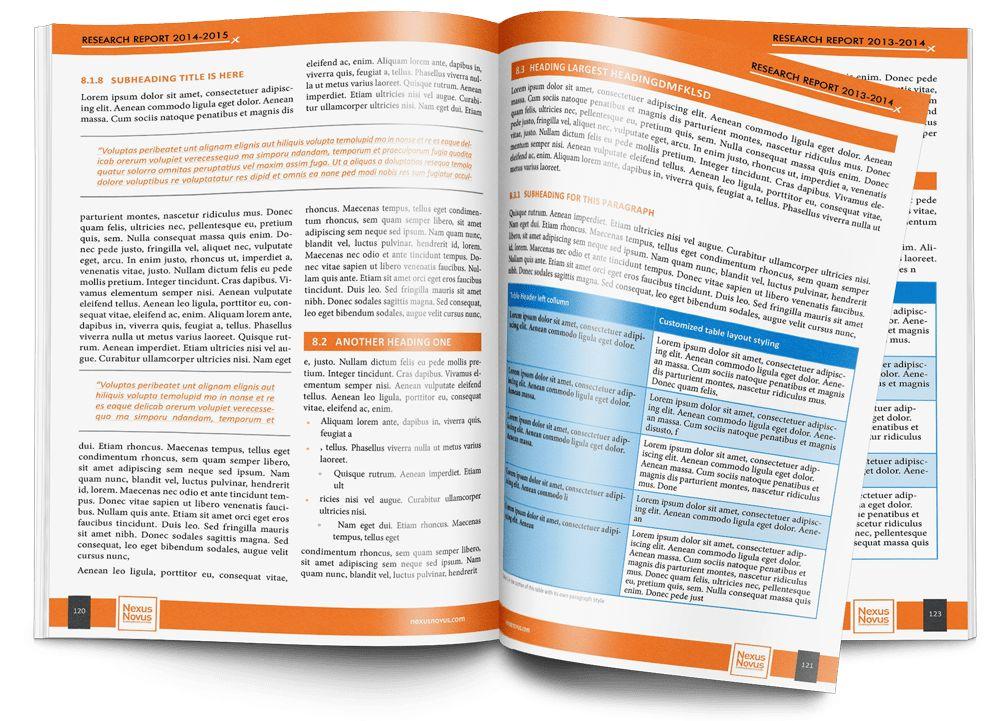 Business Report Template | Business Designs by Wouter de Bruijn