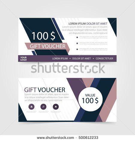 Cute Pink Green Gift Voucher Template Stock Vector 397485106 ...