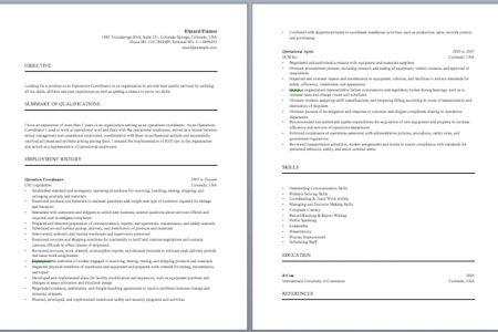 Patient Care Coordinator Resume - Reentrycorps